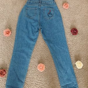 Embroided Mom Jeans